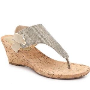 Gold Wedge Sandals (NEW)
